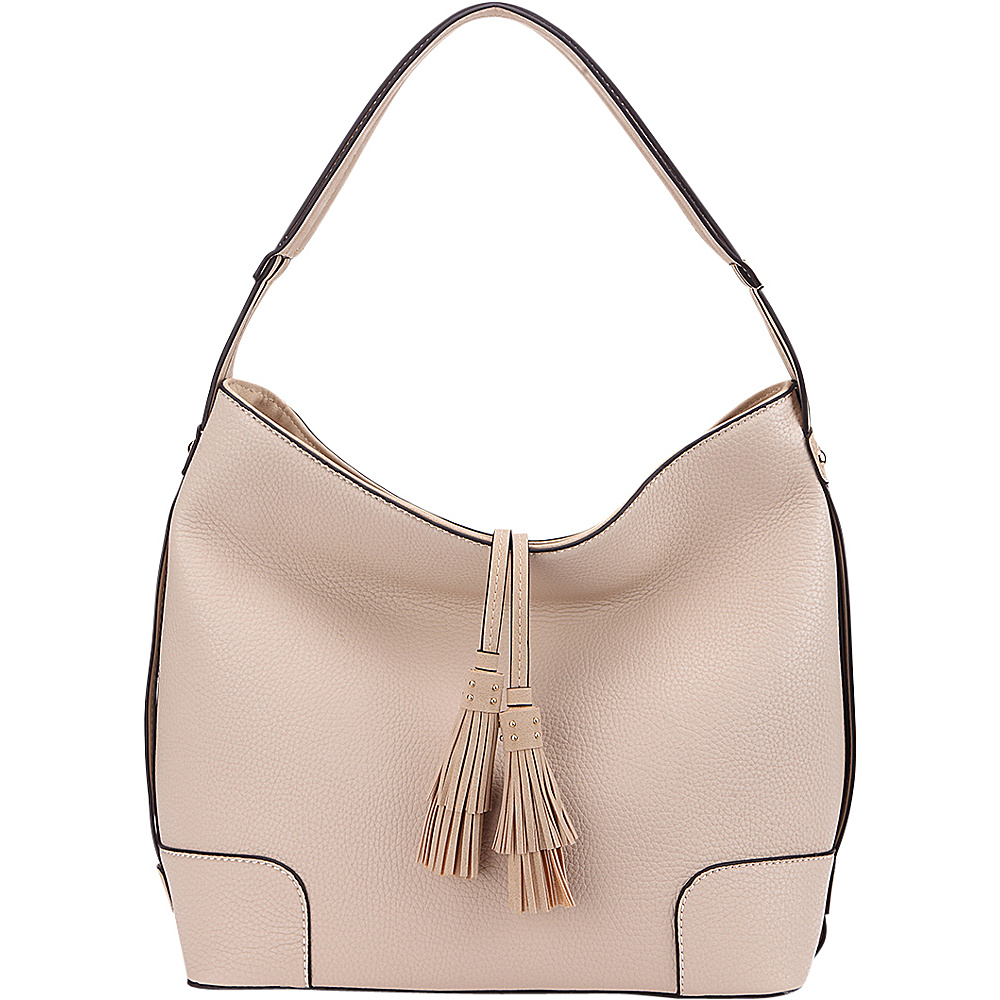 MKF Collection by Mia K. Farrow Tassel Hobo Bone - MKF Collection by Mia K. Farrow Manmade Handbags - Handbags, Manmade Handbags