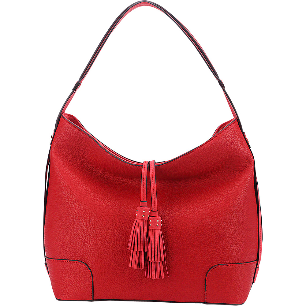 MKF Collection by Mia K. Farrow Tassel Hobo Red - MKF Collection by Mia K. Farrow Manmade Handbags - Handbags, Manmade Handbags