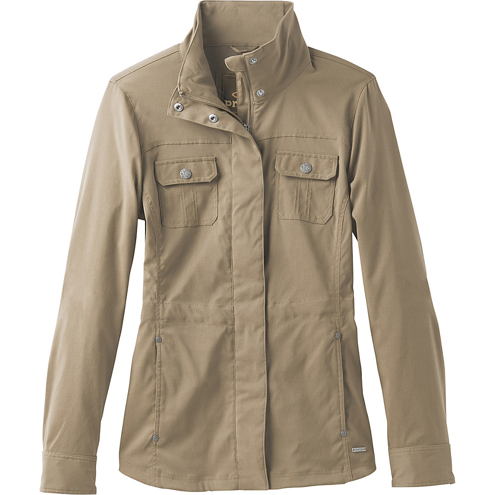 PrAna Halle Jacket L - Dark Khaki - PrAna Womens Apparel - Apparel & Footwear, Women's Apparel
