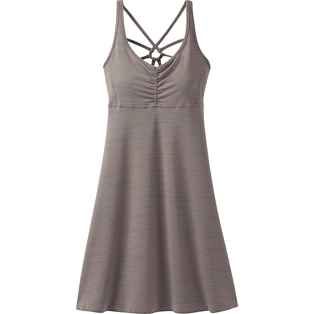 PrAna Dreaming Dress M - Moonrock Broken Stripe - PrAna Womens Apparel - Apparel & Footwear, Women's Apparel