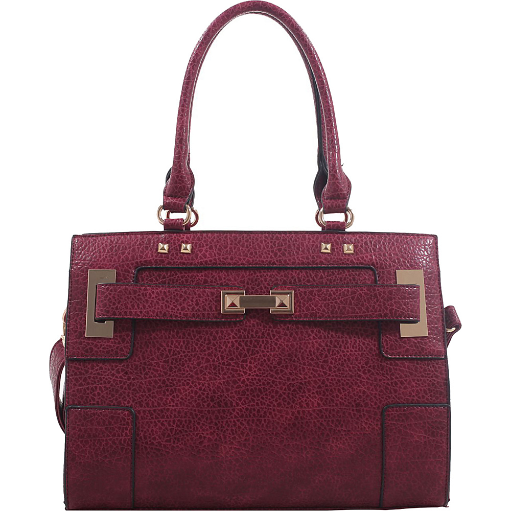 MKF Collection by Mia K. Farrow Lawrence Shoulder Bag Burgundy - MKF Collection by Mia K. Farrow Manmade Handbags - Handbags, Manmade Handbags