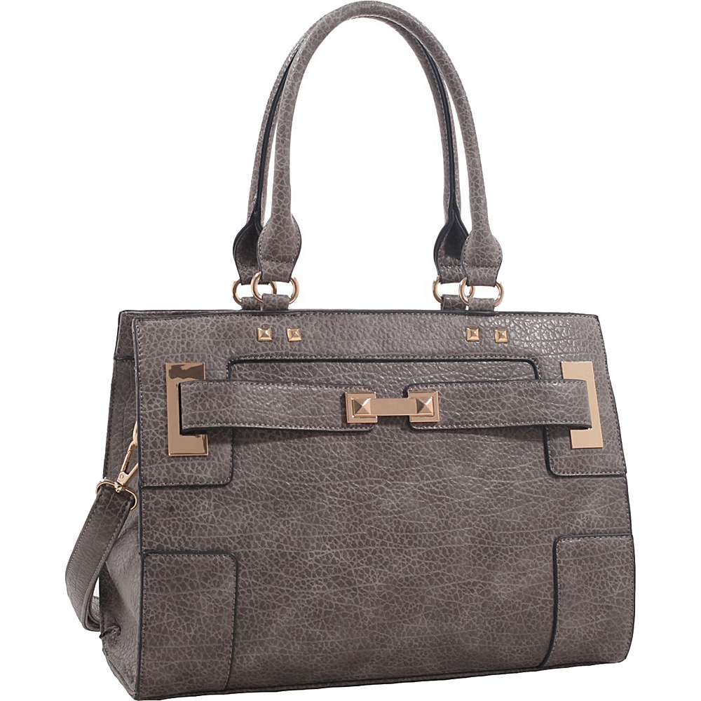 MKF Collection by Mia K. Farrow Lawrence Shoulder Bag Grey - MKF Collection by Mia K. Farrow Manmade Handbags - Handbags, Manmade Handbags