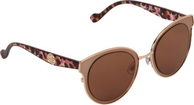 Jessica Simpson Sunwear Oversized Combo Cat Eye Sunglasses Brown Gold - Jessica Simpson Sunwear Eyewear