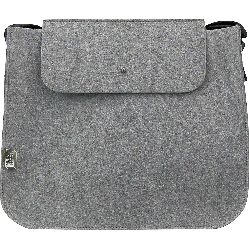 Mad Rabbit Kicking Tiger Palmer Shoulder Bag Elephant Grey Mad Rabbit Kicking Tiger Manmade Handbags