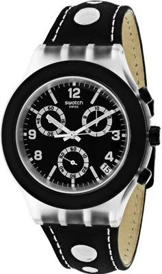 Swatch Watches Swatch Men's Black Cup Watch Black - Swatch Watches Watches