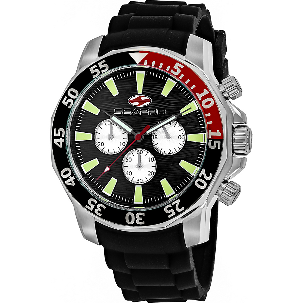 Seapro Watches Men s Scuba Explorer Watch Black Seapro Watches Watches
