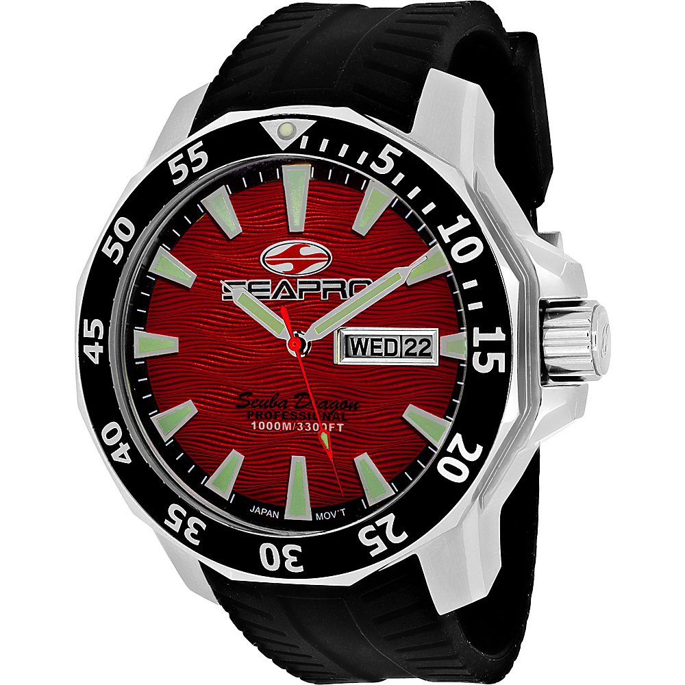 Seapro Watches Men s Scuba Dragon Diver Limited Edition 1000 Me Watch Red Seapro Watches Watches