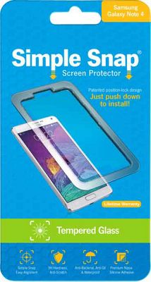 Simple Snap Screen Protector for Samsung Galaxy Note 4 Tempered Glass Transparent - Simple Snap Electronic Accessories