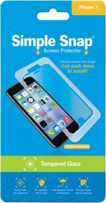Simple Snap Screen Protector for iPhone 7 Tempered Glass Transparent - Simple Snap Electronic Accessories
