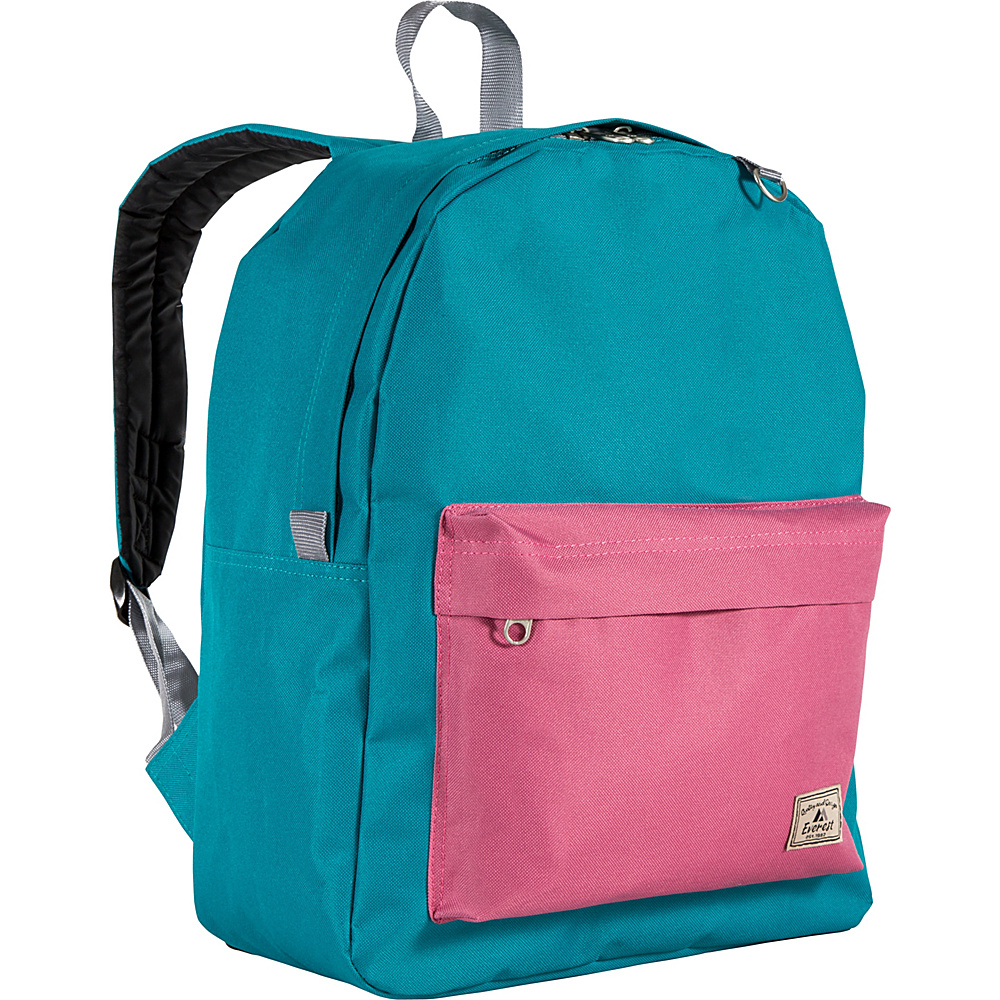 Everest Classic Color Block Backpack Dark Teal/Marsala - Everest School & Day Hiking Backpacks - Backpacks, School & Day Hiking Backpacks