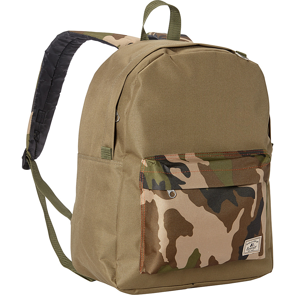 Everest Classic Color Block Backpack Olive/Camo - Everest School & Day Hiking Backpacks - Backpacks, School & Day Hiking Backpacks