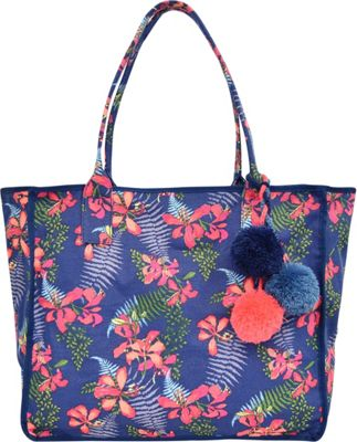 Tommy Bahama Handbags Maui Beach Tote Navy Iris - Tommy Bahama Handbags Fabric Handbags