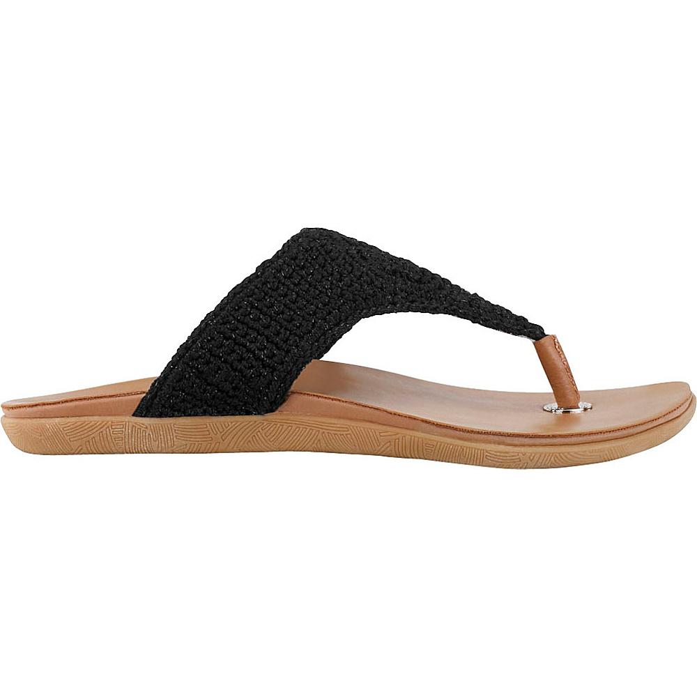 Sakroots Sarria Flip Flop Sandal 10 - Black Sparkle - Sakroots Womens Footwear - Apparel & Footwear, Women's Footwear