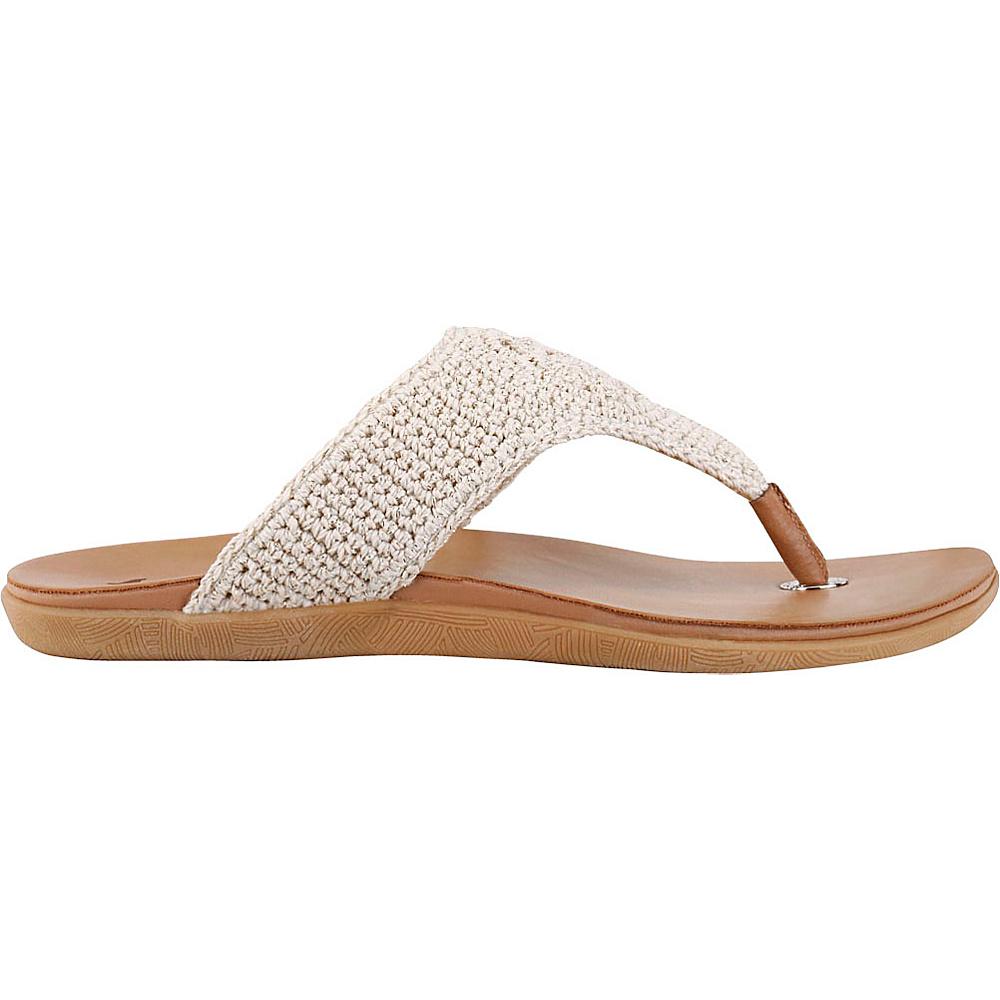 Sakroots Sarria Flip Flop Sandal 8 - Eggshell Sparkle - Sakroots Womens Footwear - Apparel & Footwear, Women's Footwear