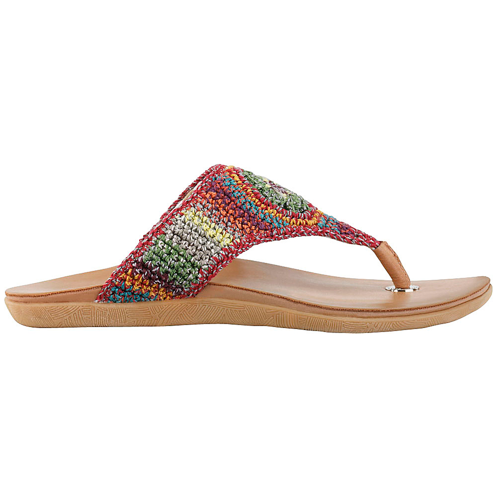 Sakroots Sarria Flip Flop Sandal 8 - Gypsy Stripe - Sakroots Womens Footwear - Apparel & Footwear, Women's Footwear
