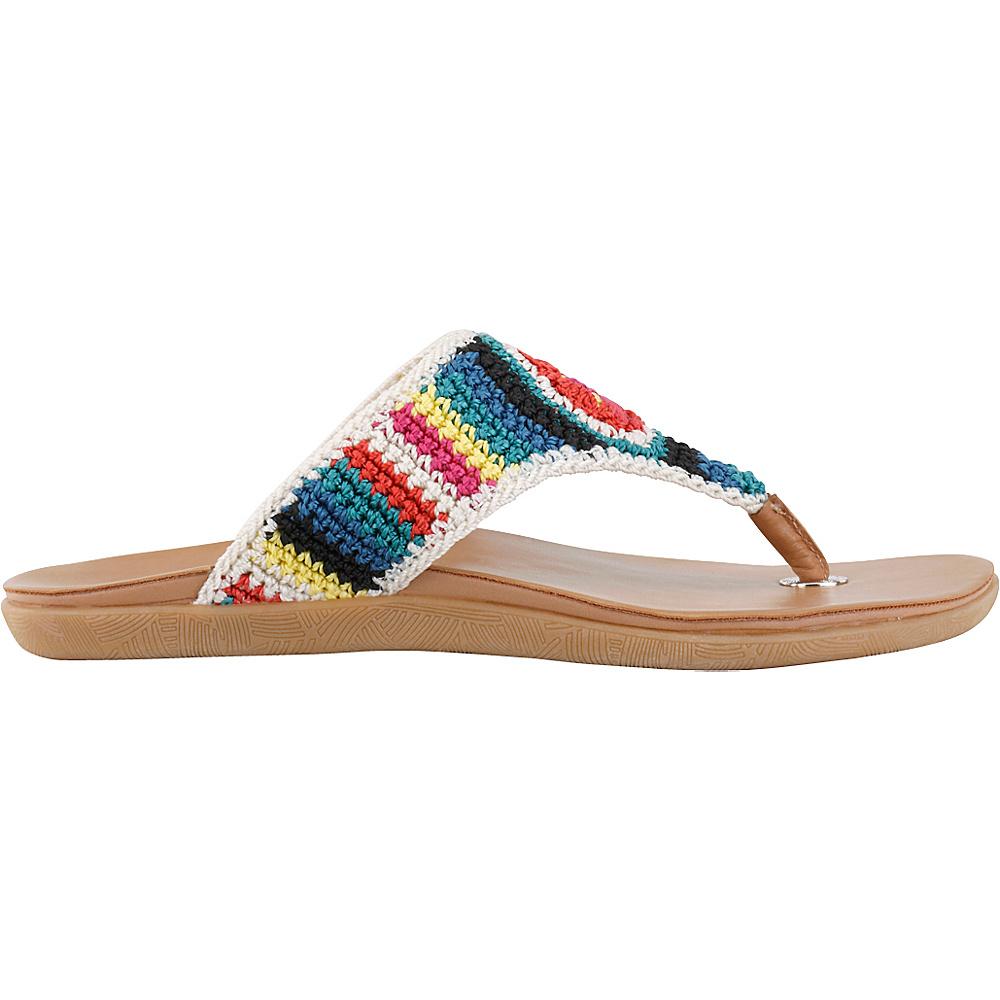 Sakroots Sarria Flip Flop Sandal 6 - Neptune Stripe - Sakroots Womens Footwear - Apparel & Footwear, Women's Footwear