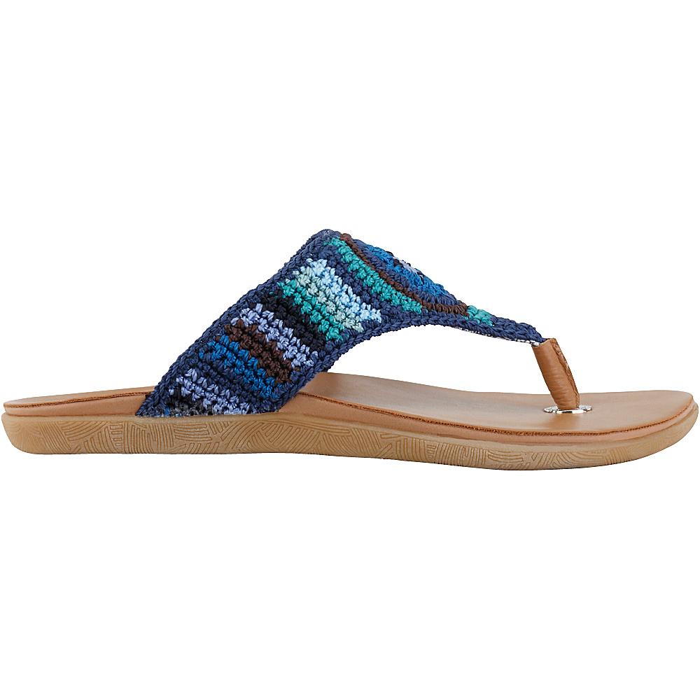 Sakroots Sarria Flip Flop Sandal 9 - Palm Springs Multi - Sakroots Womens Footwear - Apparel & Footwear, Women's Footwear