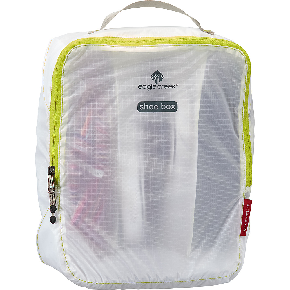 Eagle Creek Pack-It Specter Multi-Shoe Cube White/Strobe - Eagle Creek Lightweight Packable Expandable Bags - Travel Accessories, Lightweight Packable Expandable Bags