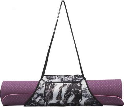 MyTagAlongs Nouveau Noir Yoga Mat Carrier Black/White - MyTagAlongs Yoga Bags
