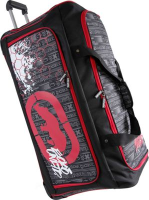 Ecko Unltd Tagger Large 32 inch Rolling Duffel Bag Black/Red - Ecko Unltd Travel Duffels