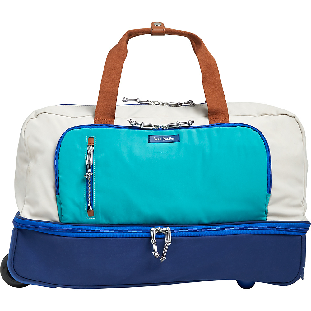 Vera Bradley Lighten Up Wheeled Carry-On Cool Lagoon - Vera Bradley Travel Duffels - Duffels, Travel Duffels