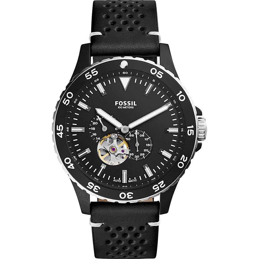 Fossil Crewmaster Sport Automatic Watch Black - Fossil Watches - Fashion Accessories, Watches
