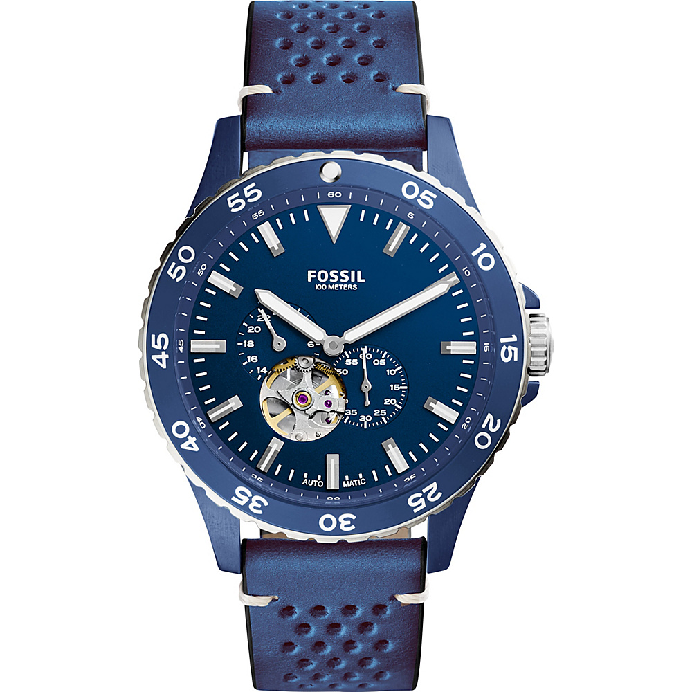 Fossil Crewmaster Sport Automatic Watch Blue - Fossil Watches - Fashion Accessories, Watches