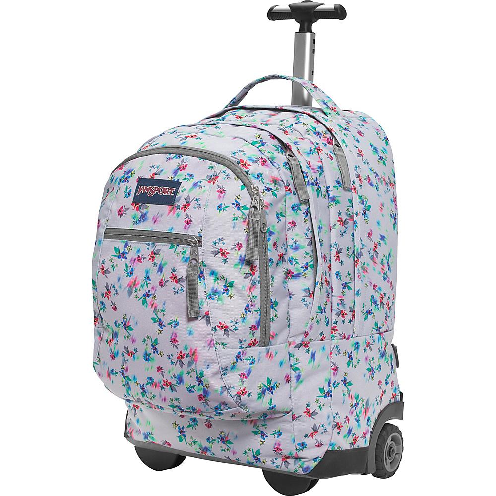 JanSport Driver 8 Rolling Backpack- Discontinued Colors Multi Grey Floral Haze - JanSport Rolling Backpacks - Backpacks, Rolling Backpacks