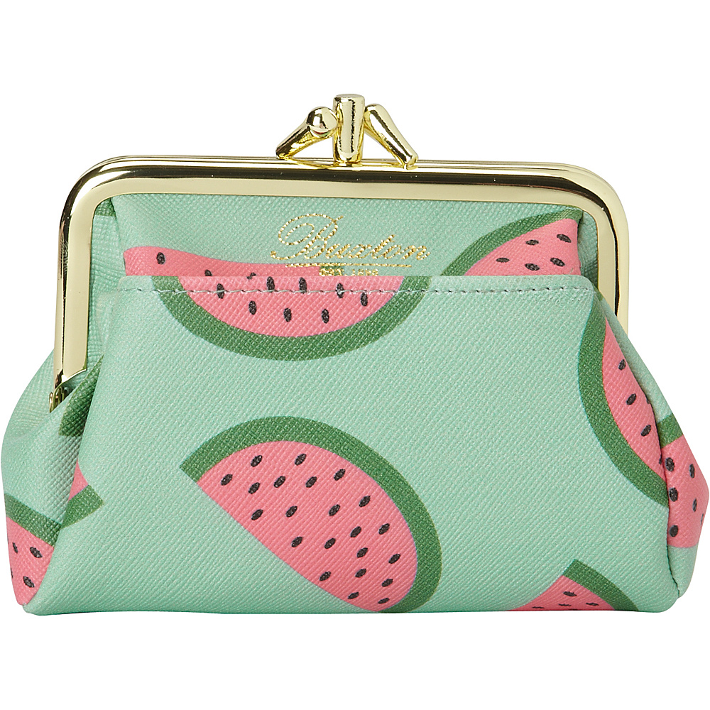 Buxton Fruit Punch Pik-Me-Up Triple Frame Grayed Jade - Buxton Womens Wallets - Women's SLG, Women's Wallets