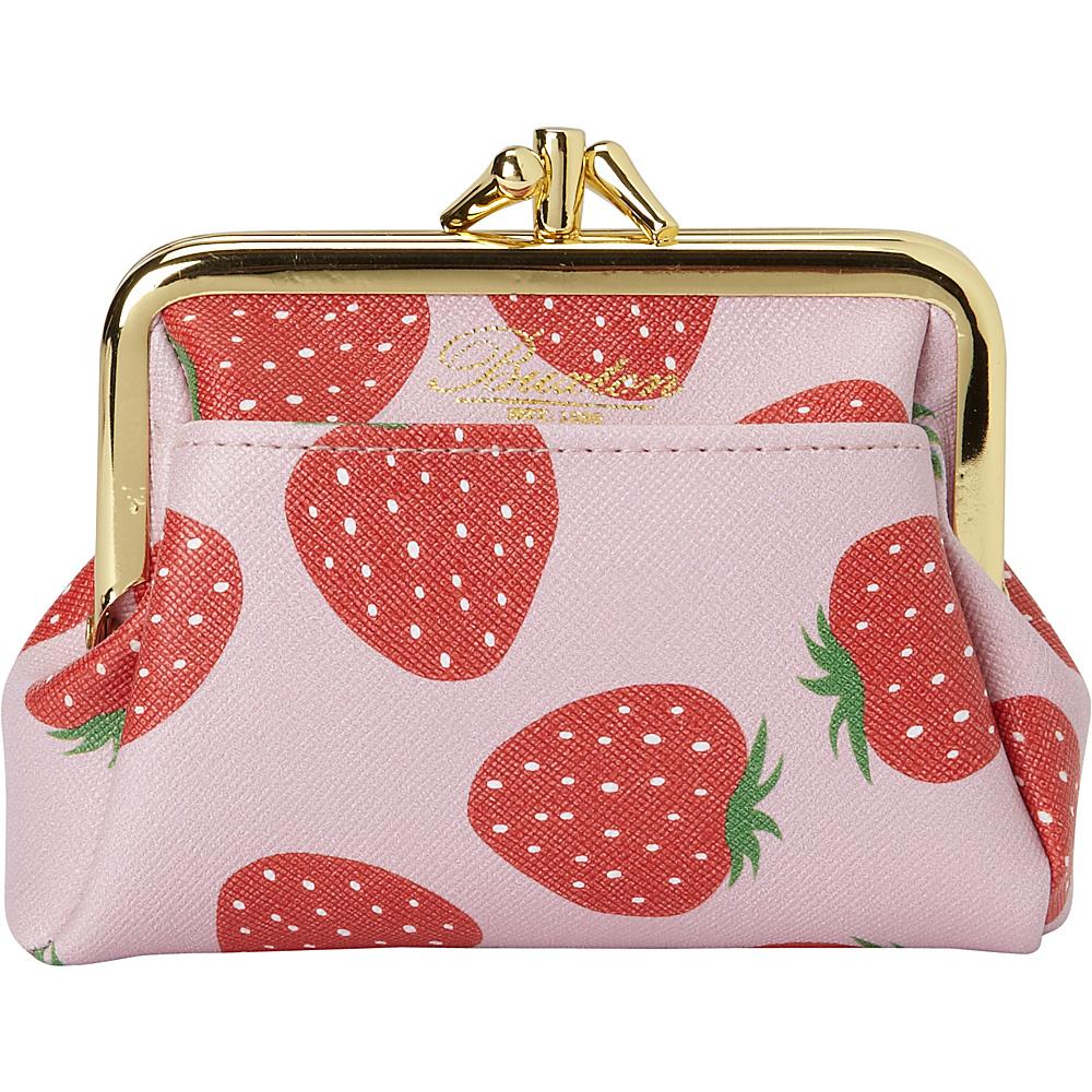 Buxton Fruit Punch Pik-Me-Up Triple Frame Sugar Coral - Buxton Womens Wallets - Women's SLG, Women's Wallets