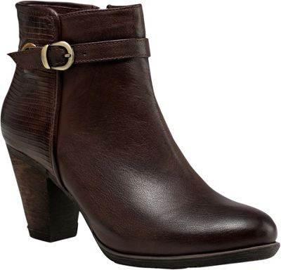 Vicenzo Footwear Sophia Low Heel Ankle Women Leather Boots 9 - Dark Brown - Vicenzo Footwear Women's Footwear