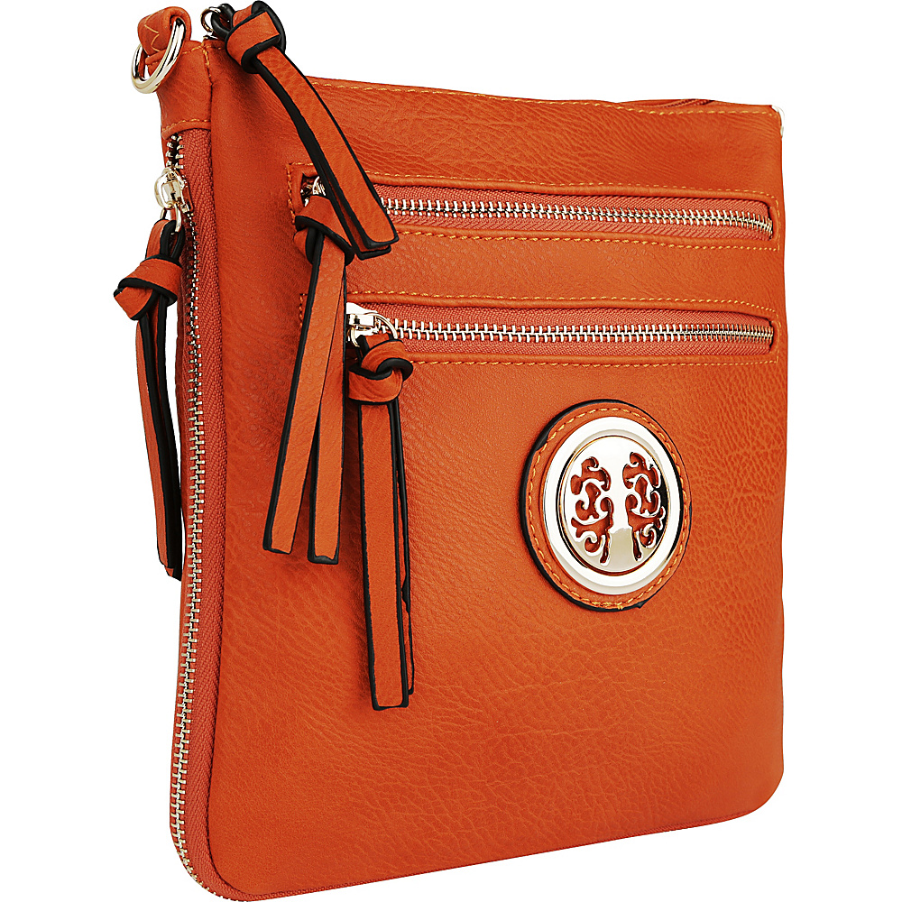 MKF Collection by Mia K. Farrow Roneeda Expandable Crossbody Persimmon Orange - MKF Collection by Mia K. Farrow Manmade Handbags - Handbags, Manmade Handbags