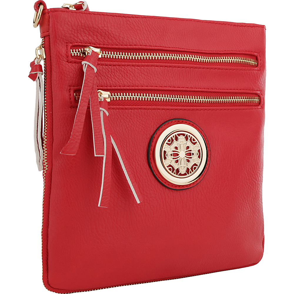 MKF Collection by Mia K. Farrow Roneeda Expandable Crossbody Watermelon Red - MKF Collection by Mia K. Farrow Manmade Handbags - Handbags, Manmade Handbags