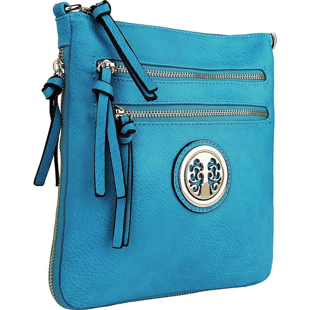 MKF Collection by Mia K. Farrow Roneeda Expandable Crossbody Turquoise - MKF Collection by Mia K. Farrow Manmade Handbags - Handbags, Manmade Handbags
