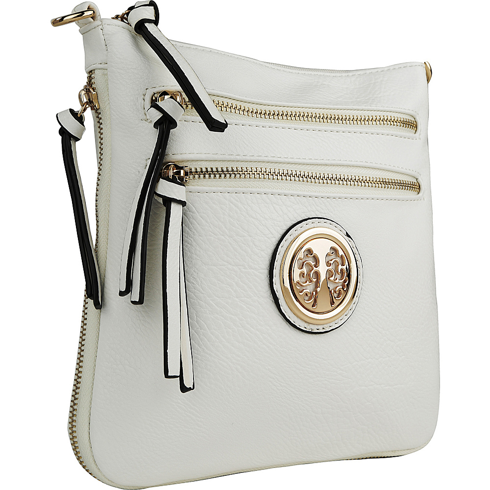 MKF Collection by Mia K. Farrow Roneeda Expandable Crossbody White - MKF Collection by Mia K. Farrow Manmade Handbags - Handbags, Manmade Handbags