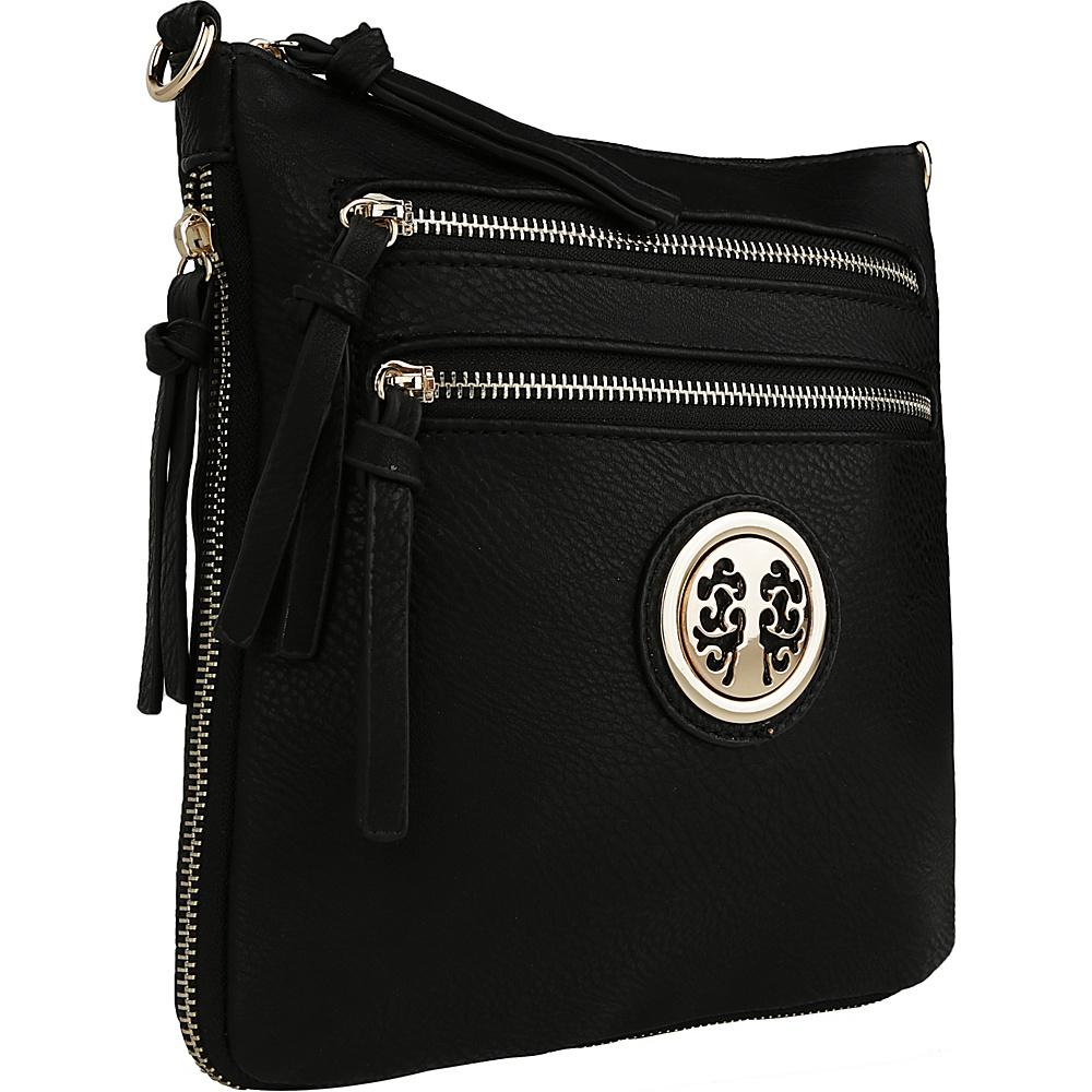 MKF Collection by Mia K. Farrow Roneeda Expandable Crossbody Black - MKF Collection by Mia K. Farrow Manmade Handbags - Handbags, Manmade Handbags