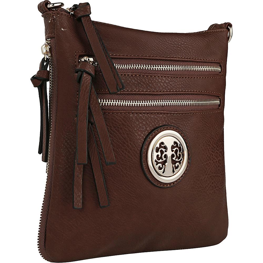 MKF Collection by Mia K. Farrow Roneeda Expandable Crossbody Coffee - MKF Collection by Mia K. Farrow Manmade Handbags - Handbags, Manmade Handbags