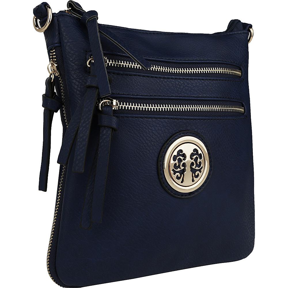 MKF Collection by Mia K. Farrow Roneeda Expandable Crossbody Navy - MKF Collection by Mia K. Farrow Manmade Handbags - Handbags, Manmade Handbags