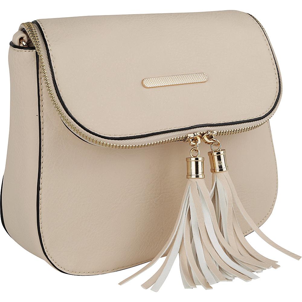 MKF Collection by Mia K. Farrow Cici Crossbody Beige - MKF Collection by Mia K. Farrow Manmade Handbags - Handbags, Manmade Handbags