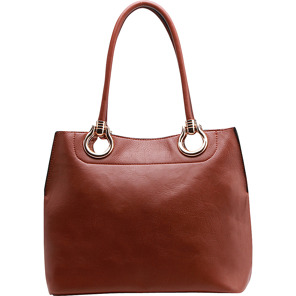 MKF Collection by Mia K. Farrow Susannah 2-in-1 Shoulder Tote Brown - MKF Collection by Mia K. Farrow Manmade Handbags - Handbags, Manmade Handbags