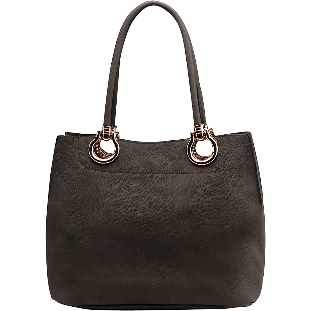 MKF Collection Susannah 2-in-1 Shoulder Tote Dark Grey - MKF Collection Manmade Handbags - Handbags, Manmade Handbags