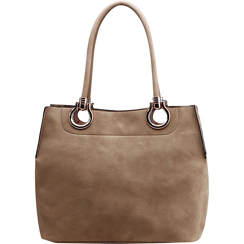 MKF Collection Susannah 2-in-1 Shoulder Tote Khaki - MKF Collection Manmade Handbags - Handbags, Manmade Handbags
