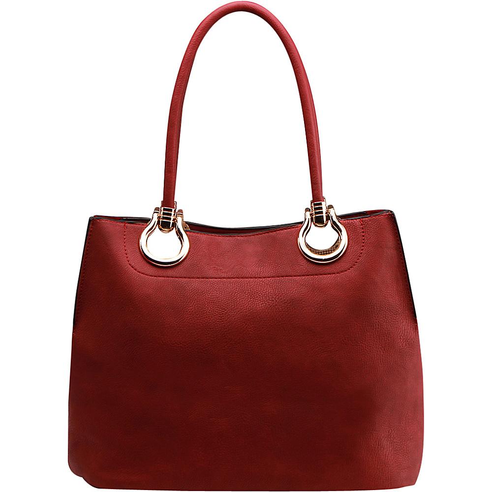 MKF Collection by Mia K. Farrow Susannah 2-in-1 Shoulder Tote Red - MKF Collection by Mia K. Farrow Manmade Handbags - Handbags, Manmade Handbags