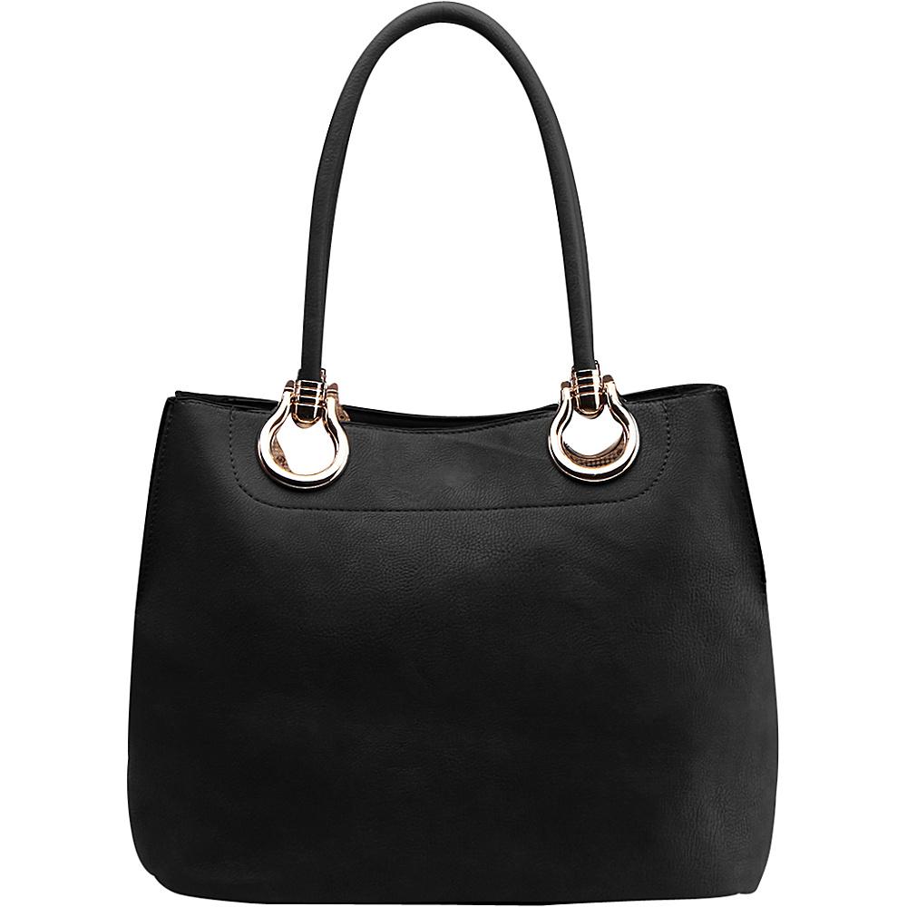 MKF Collection by Mia K. Farrow Susannah 2-in-1 Shoulder Tote Black - MKF Collection by Mia K. Farrow Manmade Handbags - Handbags, Manmade Handbags
