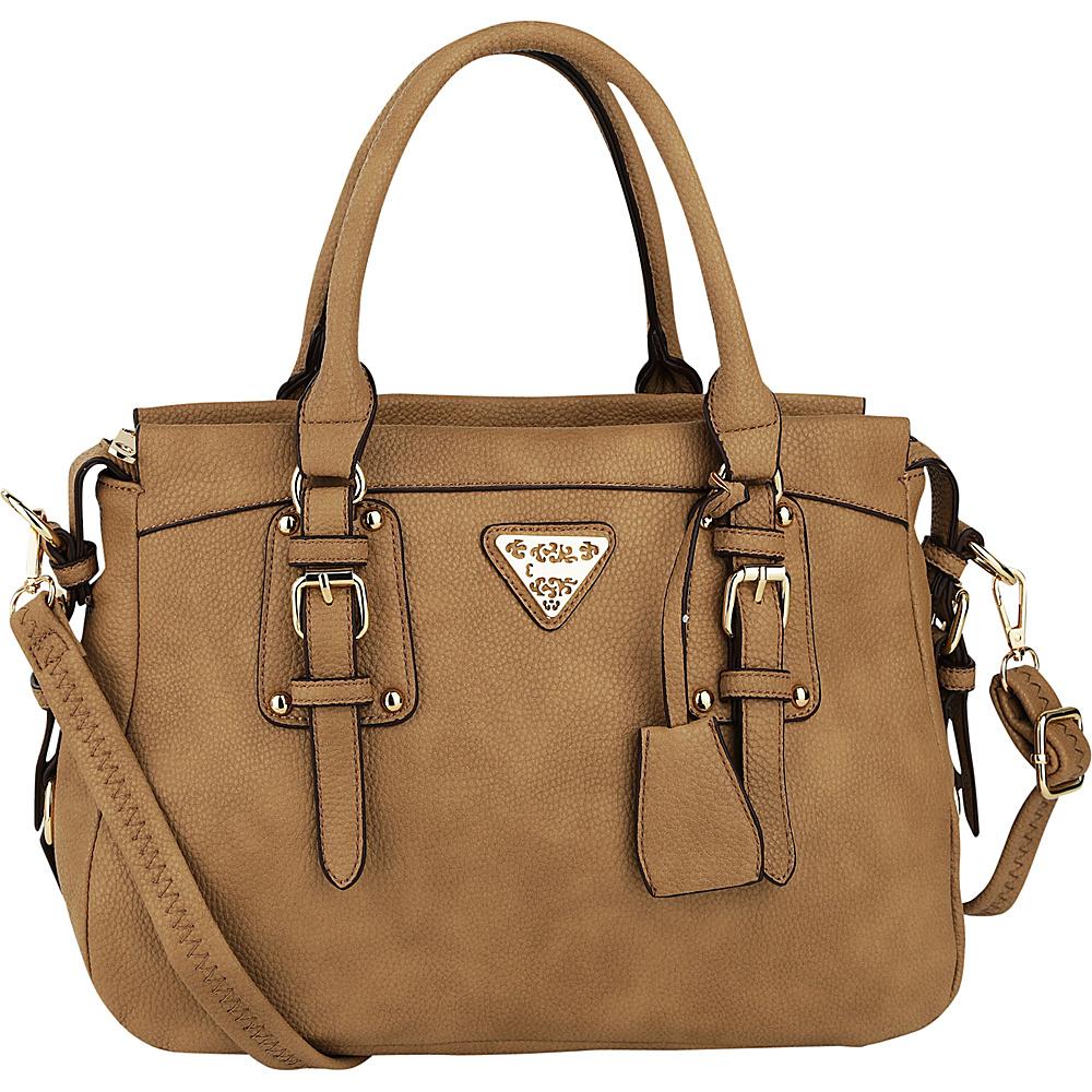 MKF Collection by Mia K. Farrow Blake Satchel Beige - MKF Collection by Mia K. Farrow Manmade Handbags - Handbags, Manmade Handbags