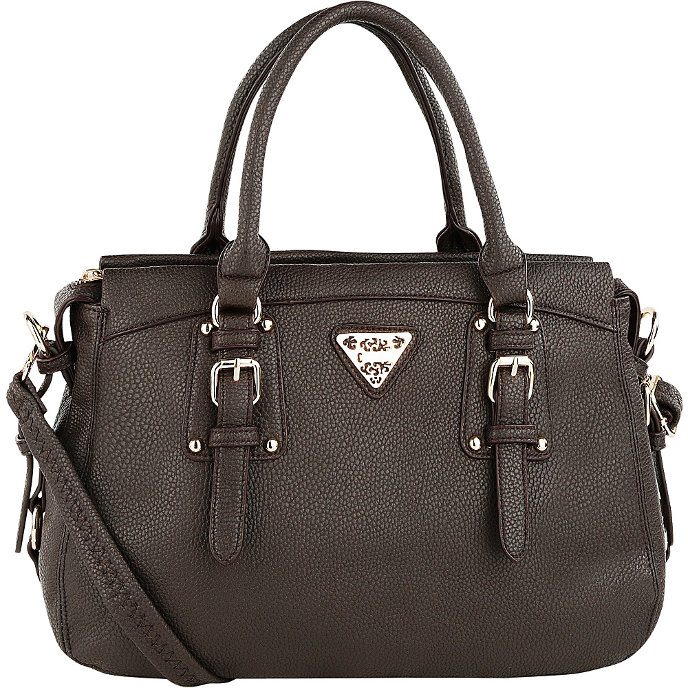 MKF Collection Blake Satchel Coffee - MKF Collection Manmade Handbags - Handbags, Manmade Handbags