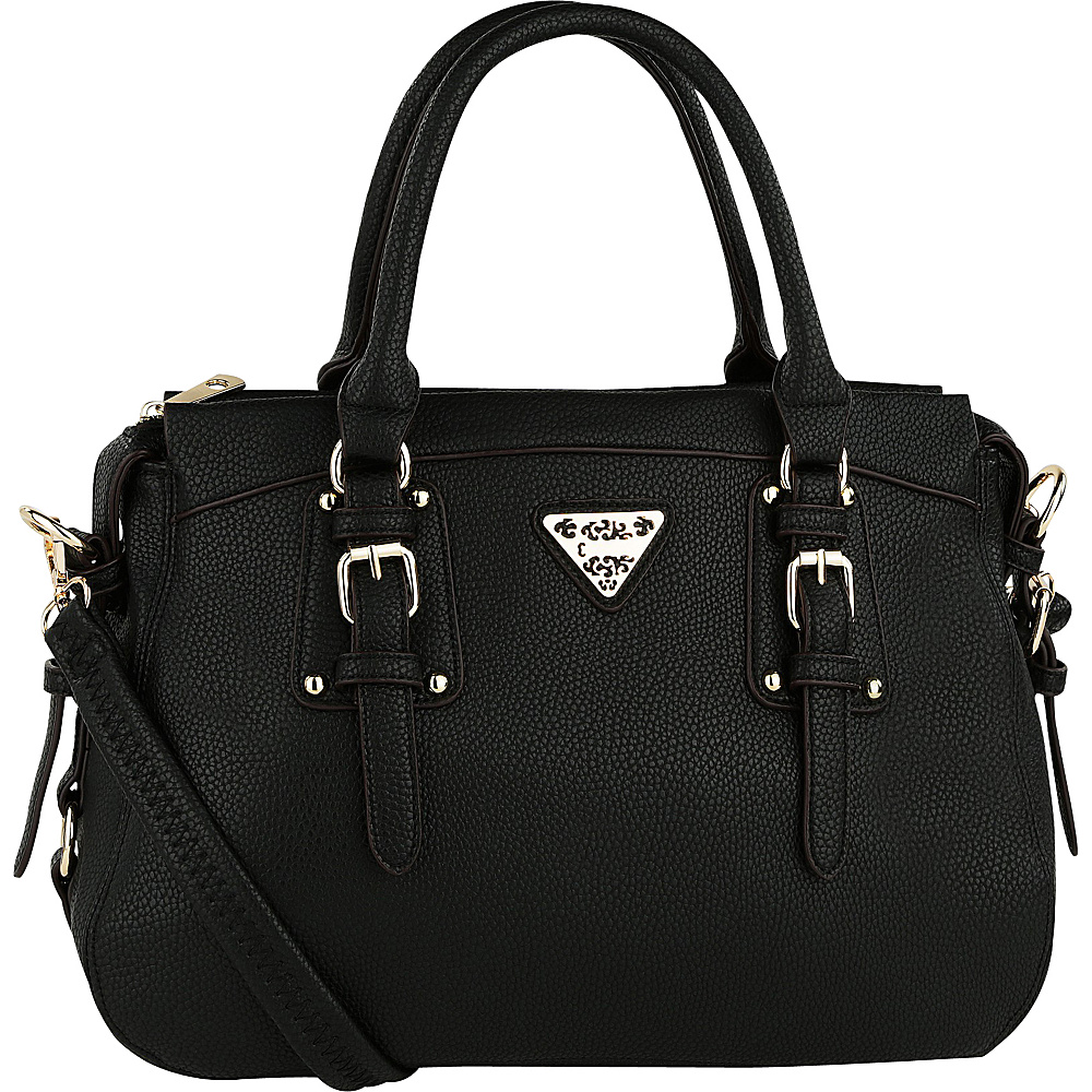 MKF Collection Blake Satchel Black - MKF Collection Manmade Handbags - Handbags, Manmade Handbags