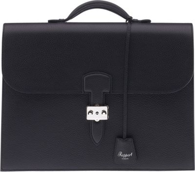 Rapport London Berkeley Grain Leather Briefcase Black - Rapport London Non-Wheeled Business Cases
