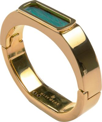 WiseWear Duchess Smart Bracelet Gold with Malachite - WiseWear Wearable Technology