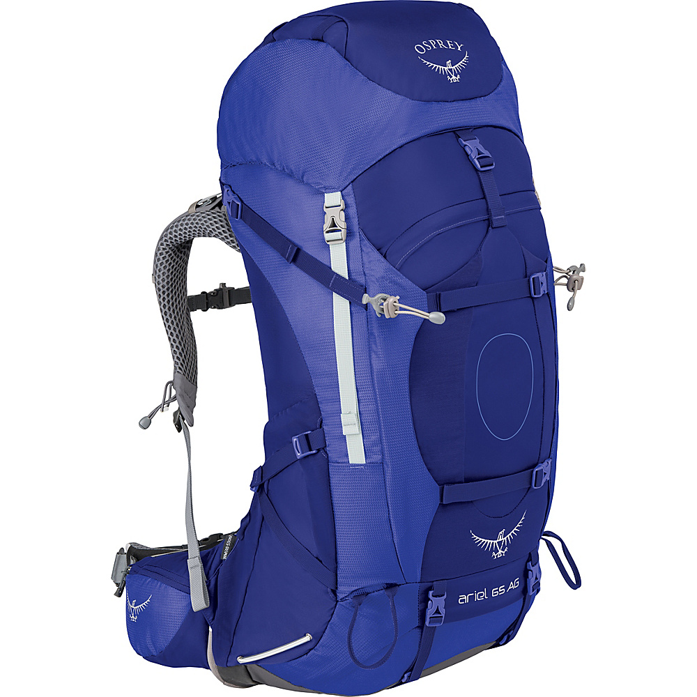 Osprey Womens Ariel AG 65 Hiking Pack Tidal Blue – WL - Osprey Backpacking Packs - Outdoor, Backpacking Packs